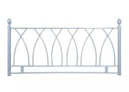 alamo silver headboard