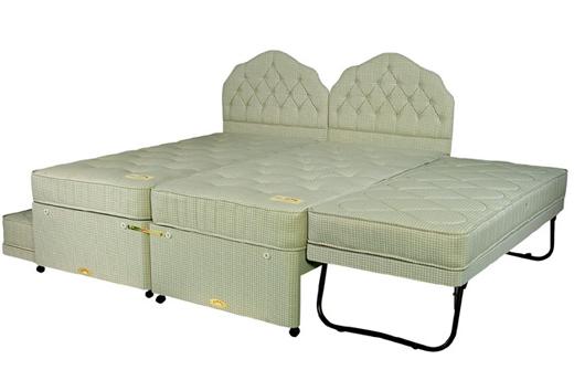 Quartet guest bed